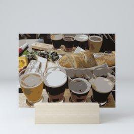 Beer Lunch | Beer Sampler | Beer Flight Mini Art Print