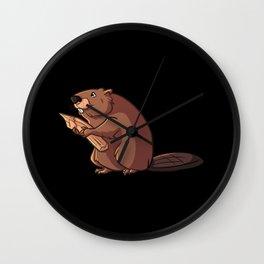 Wetland animals beaver everglade animal Wall Clock