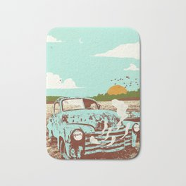OLD TRUCK Bath Mat