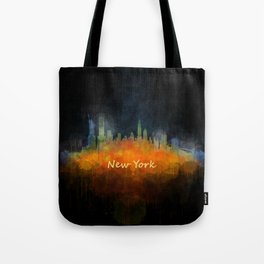 New York City Skyline Hq V04 Tote Bag