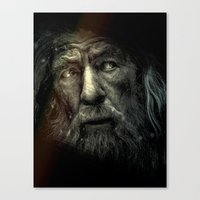 lotr Canvas Prints featuring Gandalf the Grey. (LOTR Fan Art) by Davide Fiume