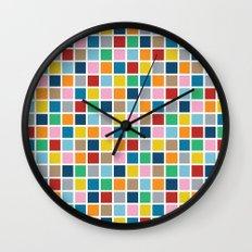 Colour Block Outline Wall Clock