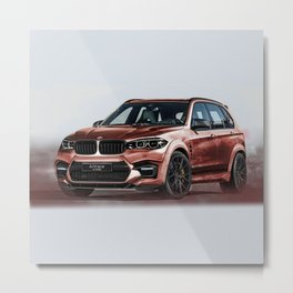 Bavarian car X5 by Artrace Metal Print