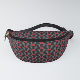 Covered in Vinyl / Vinyl records arranged in scale pattern Fanny Pack