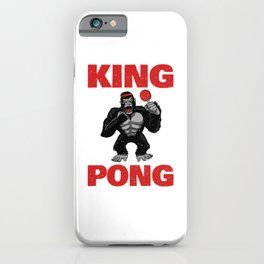 Table Tennis King Pong Funny Ping Pong Vintage Gift iPhone Case