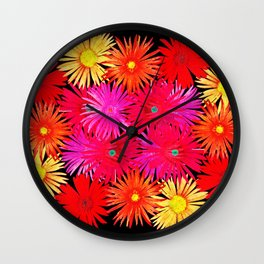 Bouquet on display Wall Clock