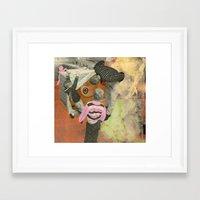 boob Framed Art Prints featuring Kitchen Boob by Molly Halligan