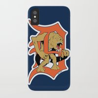 detroit iPhone & iPod Cases featuring Detroit Rancors by Ant Atomic