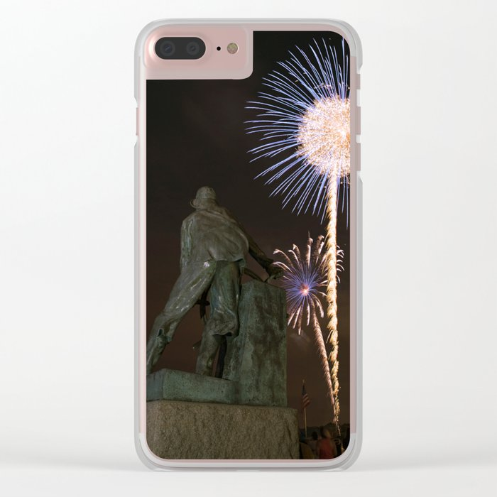 Fisherman's Memorial fireworks Clear iPhone Case