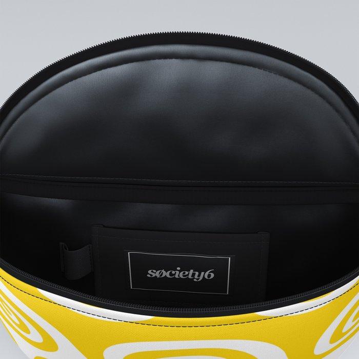 Mid Century Modern Wave Pattern Yellow Fanny Pack