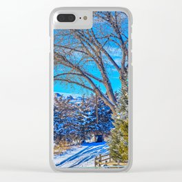 A Wyoming Winter Day X1 Clear iPhone Case