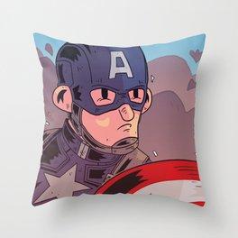Captain A Throw Pillow
