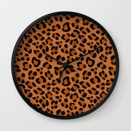 Leopard Print Scribble Pattern Wall Clock