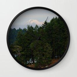 A glimpse at Mount Baker, WA Wall Clock