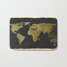 World Map Collection Bath Mat