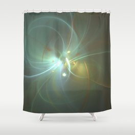 Holiday Glow Fractal Shower Curtain
