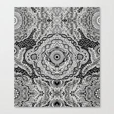 Rain in the Garden - black and white Canvas Print