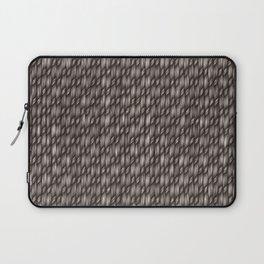 Grey Cross Weave Texture Laptop Sleeve