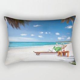 Corky's sunbathing Rectangular Pillow