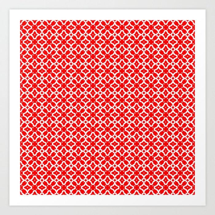 Candy Cane Pattern 2 Art Print By Kaleiopestudioleggings Society6