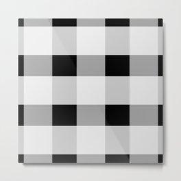 Black and white checkered pattern Metal Print