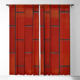 Red brick pattern Blackout Curtain