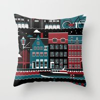 copenhagen Throw Pillows featuring Copenhagen by koivo