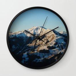 First Snow Wall Clock
