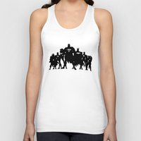 justice league Tank Tops featuring Justice League Silhouette by iankingart