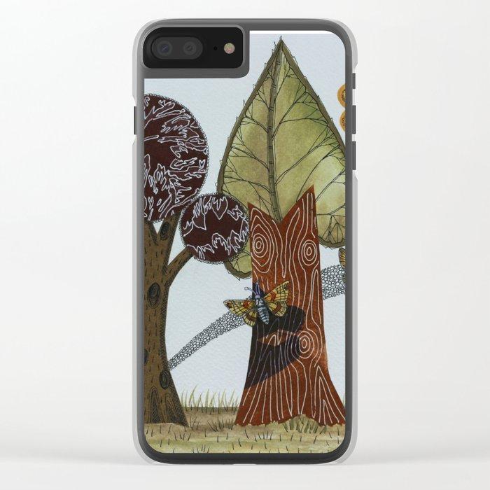 Butterflies Romance Clear iPhone Case
