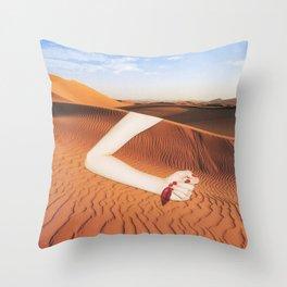 La Llamada del Desierto Throw Pillow