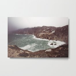 Slieve League in winter Metal Print