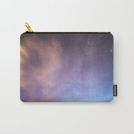 Pink Blue Glitter Galaxy Carry-All Pouch