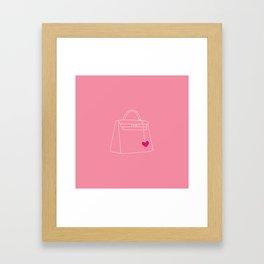 LOVE MY BAG Framed Art Print