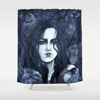 marceline Shower Curtains featuring Marceline by Angela Rizza