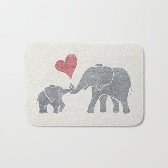 Elephant Hugs Bath Mat