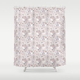 Retro , polka dot Shower Curtain