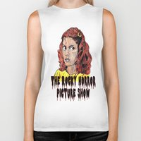 rocky horror picture show Biker Tanks featuring The Rocky Horror Picture Show by AdrockHoward