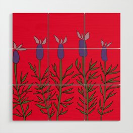 Lavender red Wood Wall Art