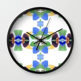 Sea Glass 11 Wall Clock