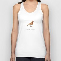 polka dot Tank Tops featuring polka dot sparrow by Marc Johns