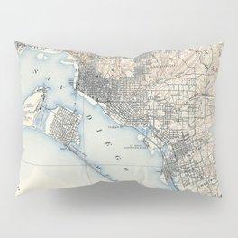 Vintage Map of San Diego California (1902) Pillow Sham