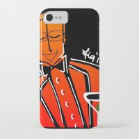 dad iPhone & iPod Cases featuring Dad by transFIGure