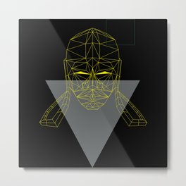 polygon head Metal Print