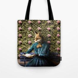 Fiona Fox reading in the garden Tote Bag