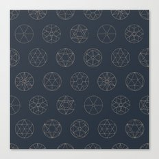 Geocircles (Blue II) Canvas Print