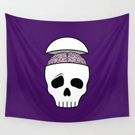 Brainy Skull Wall Tapestry