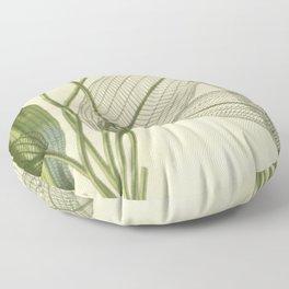 Skeleton Leaf Floor Pillow