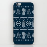 sweater iPhone & iPod Skins featuring Who's Sweater by Mandrie