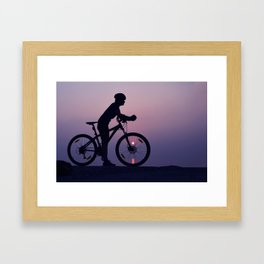 The cyclist Framed Art Print